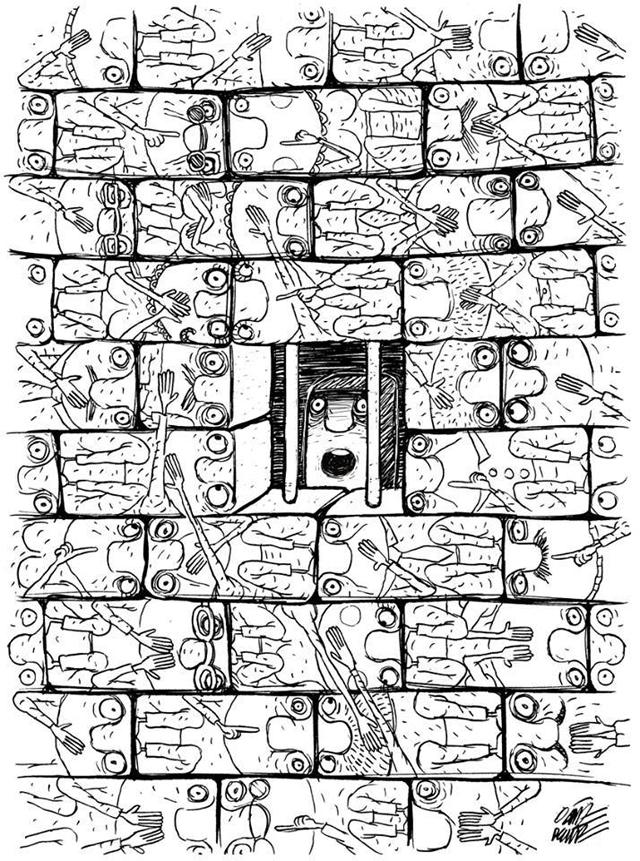 Dessin d'Oguz Demir qui illustre violence et crime d'Etat, (2013)