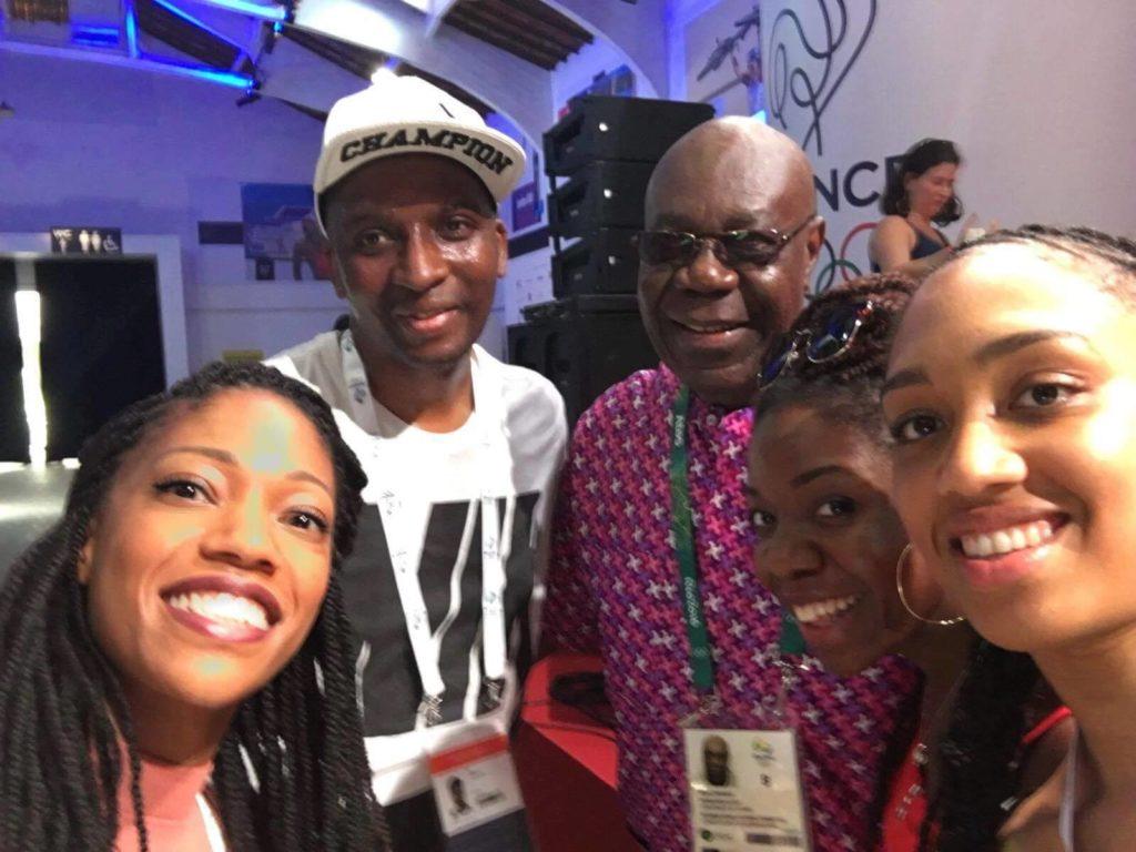 Ousmane SY à Rio avec Manu Dibango